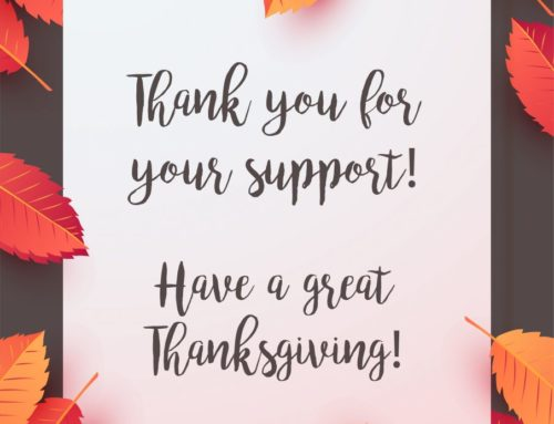 Thank You For Your Support!